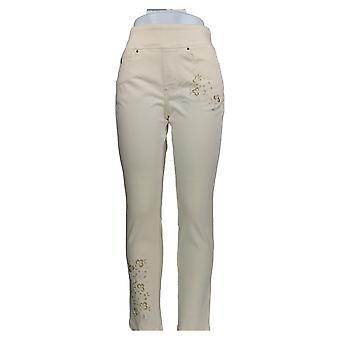 Belle by Kim Gravel Women's Jeans Regular Flexibelle Jeggings Ivory A344216