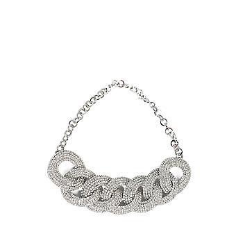 Alessandra Rich Faba2014001 Mujer's Collar de metal de plata