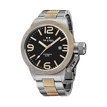 TW Steel CB135 Canteen Mens Relógio Automático - Dois Tons