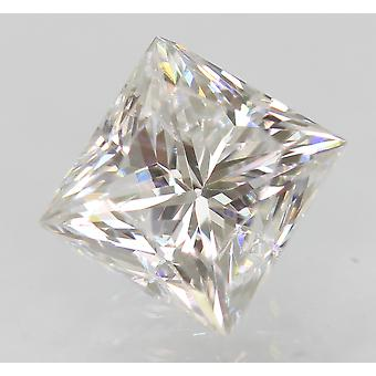 Certified 0.98 Carat D VVS2 Princess Enhanced Natural Diamond 5.27x5.03mm 2VG