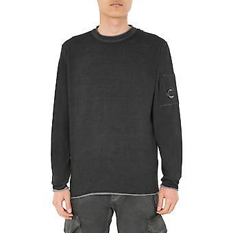 C.p. Bedrijf 08cmkn201a004128s999 Men's Black Cotton Sweater