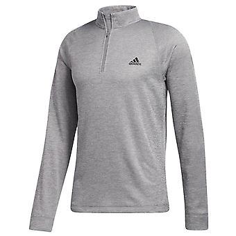 adidas Golf Mens 2020 Midweight Halv Zip Mock Neck LC Logo Tröja