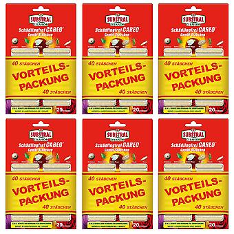 Sparset: 6 x SUBSTRAL® Celaflor® Pest-free Careo® Combi sticks, 40 pieces