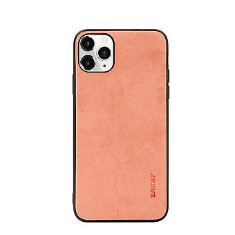 Voor iPhone 11 Pro Max Case Fabric Texture Soft Fashionable Cover Orange