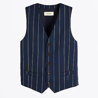 Scotch & Soda - Classic Striped Waistcoat - Navy