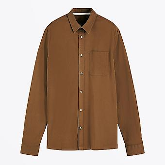 Scotch & Soda  - Cotton Twill Shirt - Brown