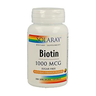 Biotin 100 tablets of 1000μg