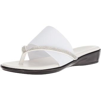 ITALIAN SHOEMAKERS Women's LUXI Sandal, White, 7.5 Medium US