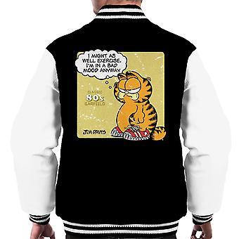 Garfield klassisk 80s trening sitat menn ' s Varsity Jacket