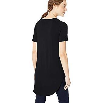 العلامة التجارية - طقوس اليومية Women's Jersey Short-sleeve Open Crew Neck Tunic,...