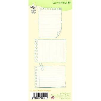 Leane Creatief Notebook Pages Clear Stamp
