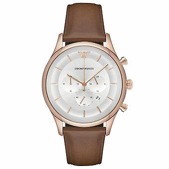 Emporio Armani AR11043 Silver Dial Chronograph Men's Horloge