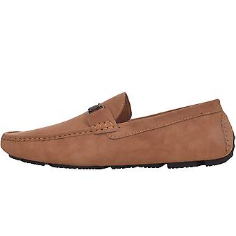 Duke D555 Mens Oakland Big Tall Wide Fit Slip On Deck Boat Moccasin Shoes - Tan