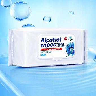 50pcs/pack Disposable Alcohol Wipes - Sterilization Antibacterial Cleaning Care Alcohol Wet Wipes
