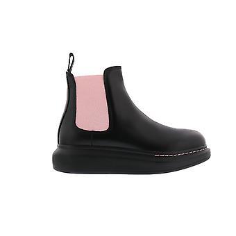 Alexander McQueen H.Boot Leathe.S.Rubb N.Li Black 586398WHX521123 shoe