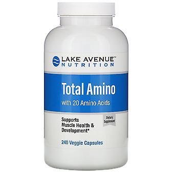 Lake Avenue Nutrition, Total Amino, 240 Veggie Capsules