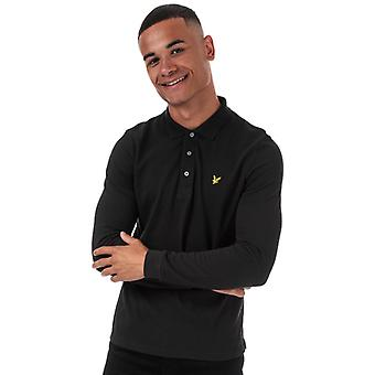Men's Lyle And Scott Long Sleeve Polo Shirt in Black