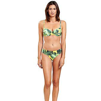 Féraud 3205022-16081 Women's Green Leaves Non-Padded Underwired Bikini Set