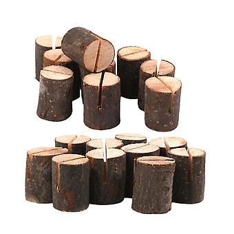 10PCS rustieke houten kaarthouders tafel nummer teken stomp