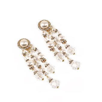 Alessandra Rich Faba2216j341002 Mujer's Pendientes de latón de oro