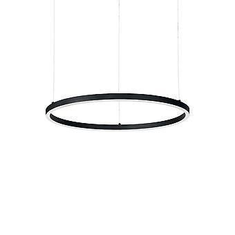 Ihanteellinen Lux ORACLE - Integroitu LED-ympyrä kattoriipuslamppu 1 vaalea musta 3000K