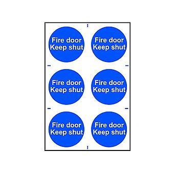 Scan Fire Door Keep Shut - PVC 200 x 300mm SCA0151