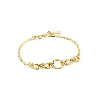Ania Haie Chain Reaction Shiny Gold Horseshoe Link Bracelet B021-04G