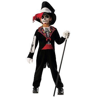 Tag der toten Jungen Skelett Spanisch mexikanische Halloween Kind Jungen Kostüm