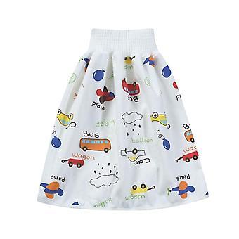 High Waist Elastic Training Skirt Waterproof Baby Diaper Comfy Reusable, 2 In 1