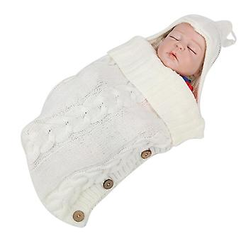 Style Knitted Baby Robes Sleeping Bag Cute Winter Clothing Sleepwear For Girls Boys