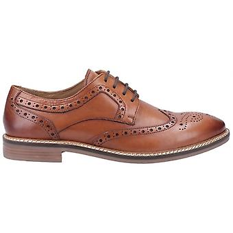 Hush Chiots Bryson Mens Leather Oxford Shoes Brown