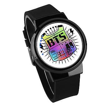 Waterproof Luminous LED Digital Touch Children watch  - BTS #11