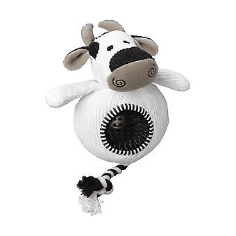 Battles House Of Paws Cord Toy With Spiky Ball - Cow