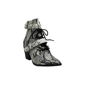 Steve Madden Womens Patterson läder slutna tå fotled mode stövlar