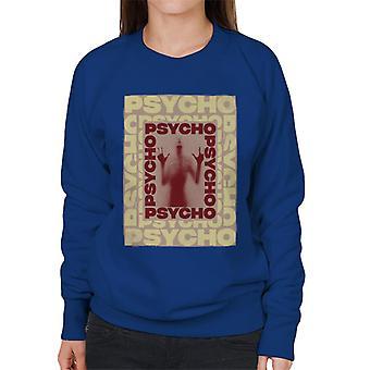 Psycho Psycho Psycho Mirror Silhouette Women's Sweatshirt