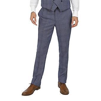 Jenson Samuel Warwick Blue Check Trousers