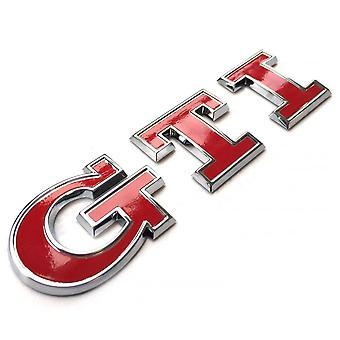GTI الأحمر شارة السيارة الخلفية شارة شارة شارة سيارة ل فولكس فاجن فولكس فاجن بولو جولف جيتا MK4 5 7 بيتل باسات