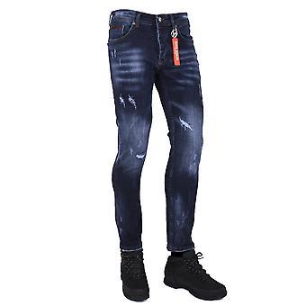 Nico Dolce | Lumor Slim Fit Stretch Distressed Denim Jean 1 - Blue