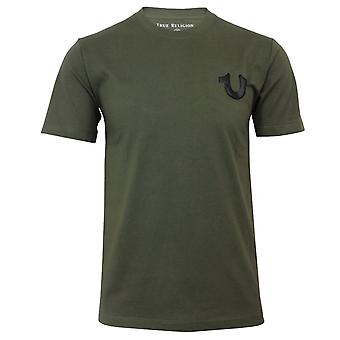 True religion men's olive crew neck t-shirt