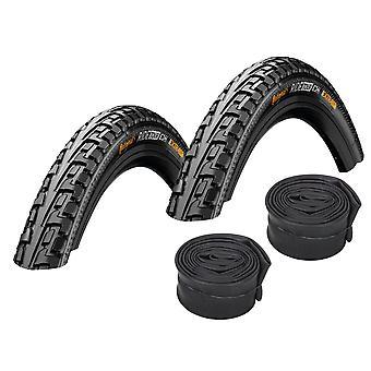 "Velo.Set 2 x Continental Ride Tour Tires = 47-622 (28×1.75"") + Hoses"