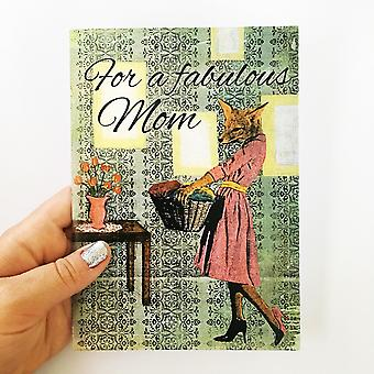 For A Fabulous Mom-fox Card