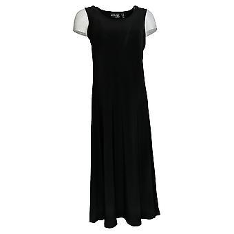 Attidudes door Renee Petite Dress Maxi Sleeveless Zwart