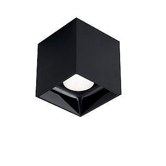 LED Square Surface Mounted Anti-Glare Downlight, Zwart, 4000K