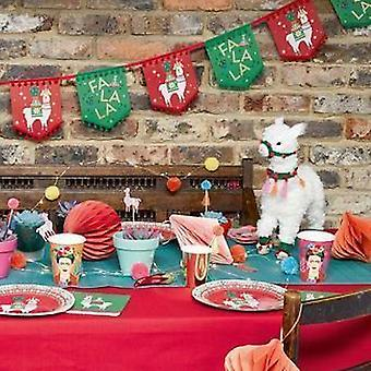 Fiestive Llama Decoration Christmas Free Standing