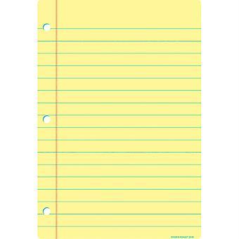 """Smart Poly Chart, 13"""" X 19"""", Papier portable jaune clair"""