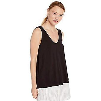 Brand - Daily Ritual Women's Supersoft Terry V-Neck Tank, Black,Small