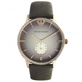 ארמאני Ar1723 רוז גולדטון וירוק עם טקסטורה עור יוניסקס שעונים