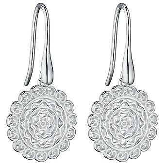 Elements Silver Colombian Inspired Filigree Earrings - Silver