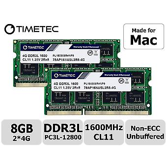 Timetec hynix ic compatible with apple 8gb (2x4gb) ddr3 1600mhz pc3-12800 sodimm memory upgrade for