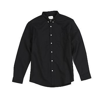 الرجال قميص عارضة، جيوب الصدر واحد، والقطن، والربيع الملابس